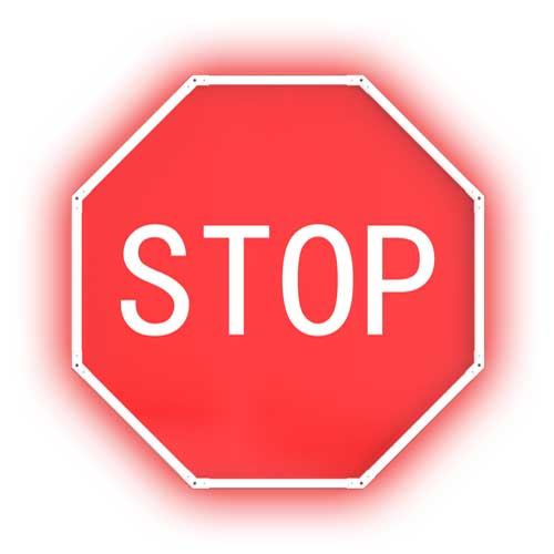 Solar Flashing Stop Sign
